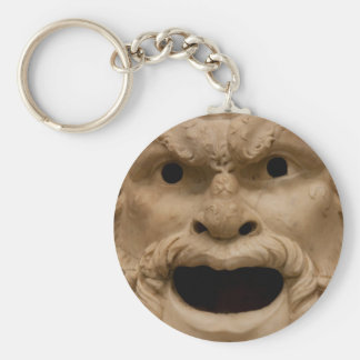 Ancient Satyr mask Key Chains
