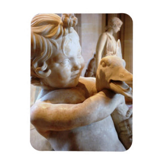 Ancient Sculpture Boy & Goose Rectangular Photo Magnet