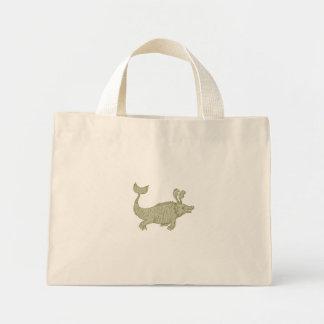 Ancient Sea Monster Drawing Mini Tote Bag