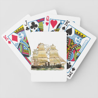 Ancient Ship Bicycle Playing Cards
