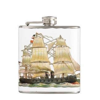 Ancient Ship Hip Flask