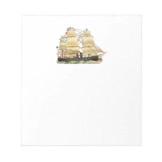 Ancient Ship Notepad