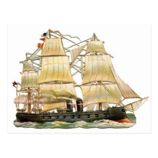 Ancient Ship Postcard