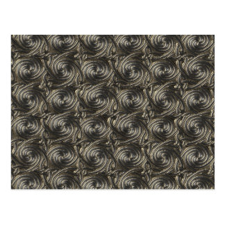 Ancient Silver Celtic Spiral Knots Pattern Post Cards