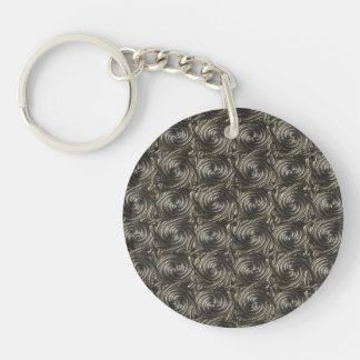 Ancient Silver Celtic Spiral Knots Pattern Single-Sided Round Acrylic Key Ring