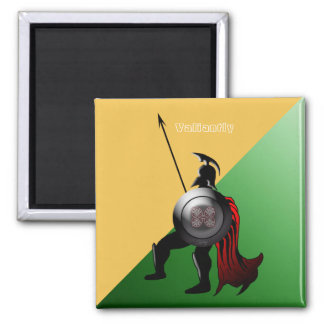 Ancient Spartan Warrior Green and Yellow Magnet
