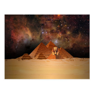 Ancient Sphynx in Space Postcard