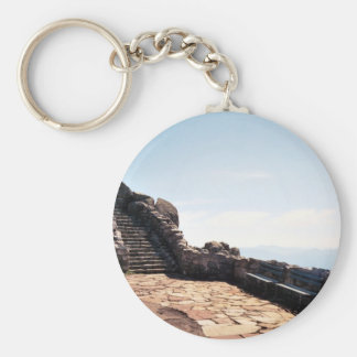 Ancient Stair Case Basic Round Button Key Ring