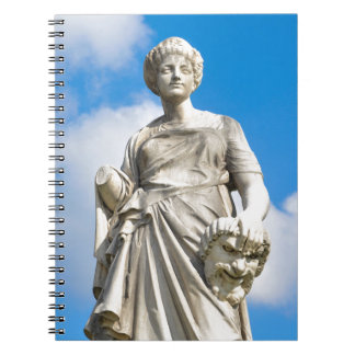 Ancient statue note book