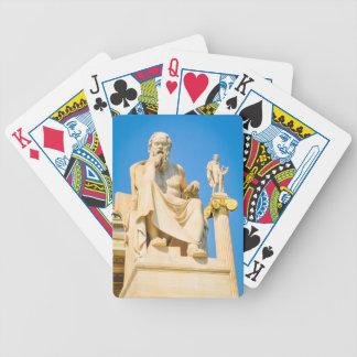 Ancient statue of philosopher in Athens, Greece Bicycle Playing Cards