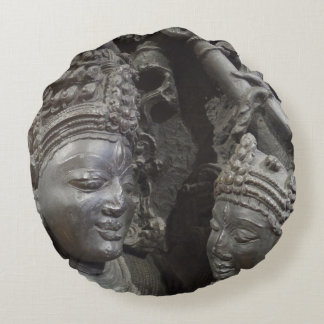 Ancient Statue Round Pillow