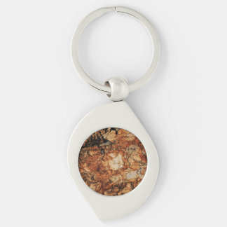 Ancient Stone Silver-Colored Swirl Key Ring