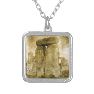 Ancient Stone Silver Plated Necklace