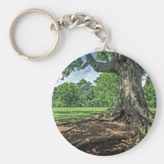 Ancient Tree and Roots Keychain