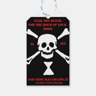 Ancient Viking Prayer...Fear Not Death Gift Tags