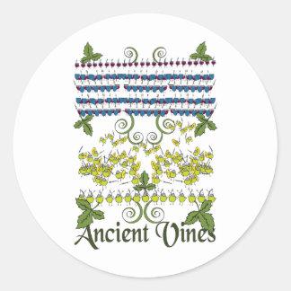 Ancient Vines Round Sticker