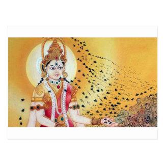 Ancient Vintage Artwork Goddess of the Honey Bees Postcard