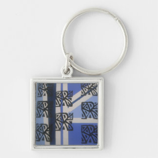 Ancient Ways Silver-Colored Square Key Ring