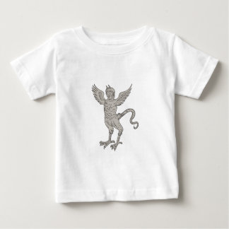 Ancient Winged Monster Drawing Baby T-Shirt