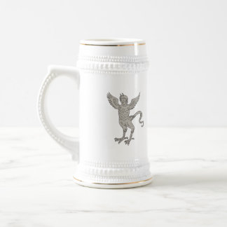 Ancient Winged Monster Drawing Beer Stein