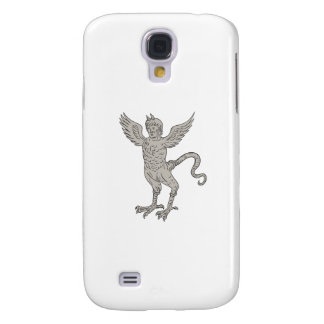 Ancient Winged Monster Drawing Galaxy S4 Cover