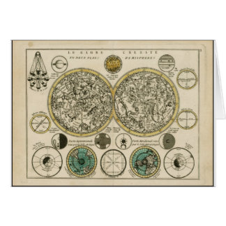 Ancient World Map East and West Card