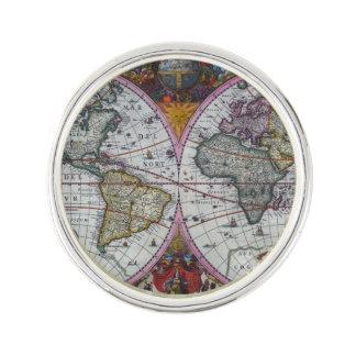 Ancient World Map Lapel Pin