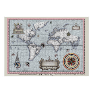 ancient world map No.1, tony fernandes Poster