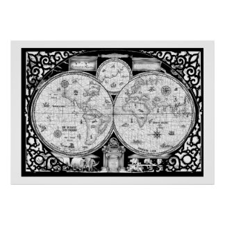 ancient world map No.2, tony fernandes Poster