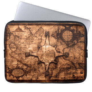 Ancient World Traveler - Map & Compass Rose Laptop Sleeve