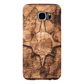 Ancient World Traveler - Map & Compass Rose Samsung Galaxy S6 Cases