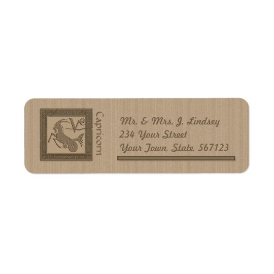 Ancient Zodiac -Capricorn Return Address Label