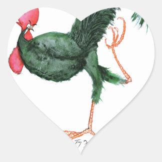 Ancona Hen, tony fernandes Heart Sticker