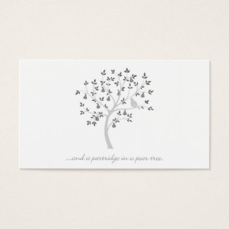And a partridge in a pear tree business card