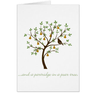 And a partridge in a pear tree greeting card