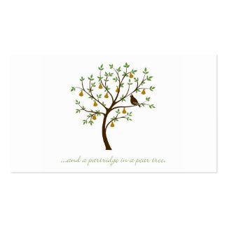 And a partridge in a pear tree pack of standard business cards