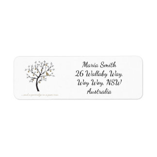 And a partridge in a pear tree return address label