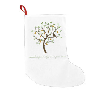 And a partridge in a pear tree small christmas stocking