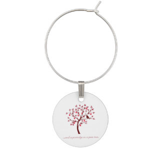 And a partridge in a pear tree wine glass charm