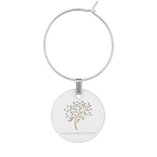 And a partridge in a pear tree wine glass charms