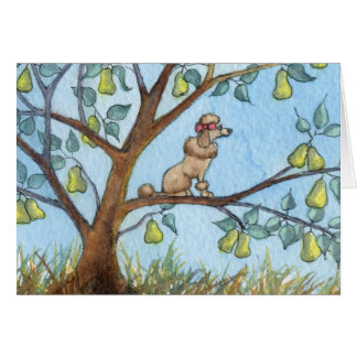 ...And a poo-oodle in a pear tree... Greeting Card