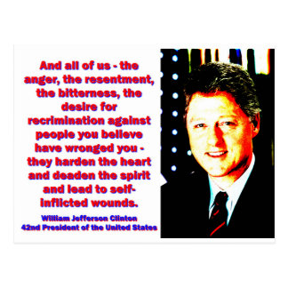 And All Of Us - Bill Clinton Postcard