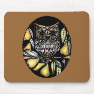 ... and an owl in a pear tree mouse pad