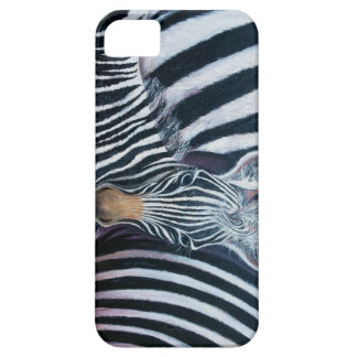 and baby Makes 3, Baby Zebra by GG Burns iPhone 5 Cover