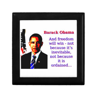 And Freedom Will Win - Barack Obama Small Square Gift Box