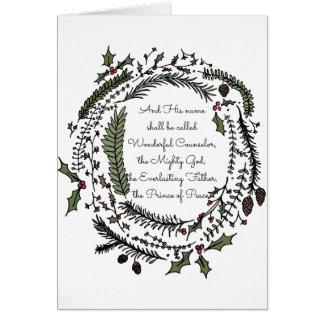 And His Name Shall Be Called Christmas Card