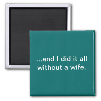 And I did it all without a wife--teal magnet