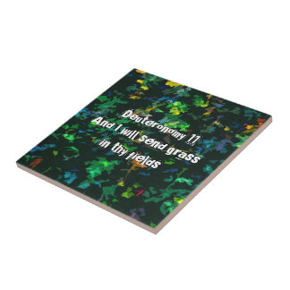 And I will send grass in thy fields Ceramic Tile