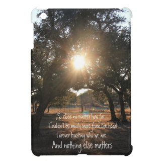 And Nothing Else Matters; Sunset through trees iPad Mini Cover