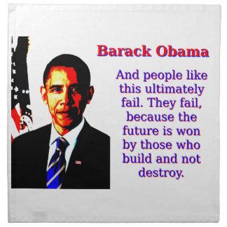 And People Like This - Barack Obama Napkin